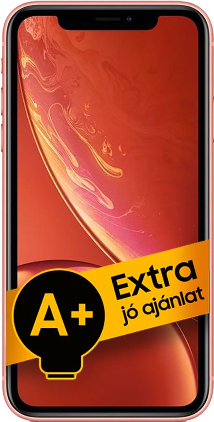 Apple iPhone XR 128GB (Korall) 3GB RAM - 1 év gyártói jótállás - A+ ajánlat