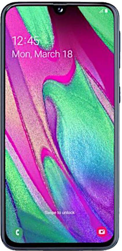 Samsung Galaxy A40 DualSIM 64GB (Fekete) 4GB RAM - 2 év garancia