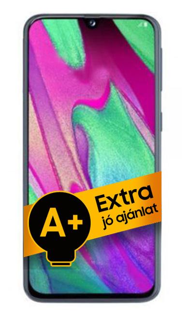 Samsung Galaxy A40 DualSIM 64GB (Narancs) 4GB RAM - 1 év jótállás - A+ ajánlat