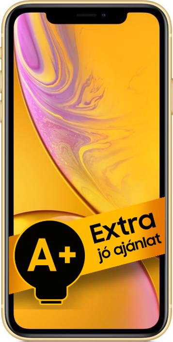 Apple iPhone XR 128GB (Sárga) 3GB RAM - 1 év gyártói jótállás - A+ ajánlat
