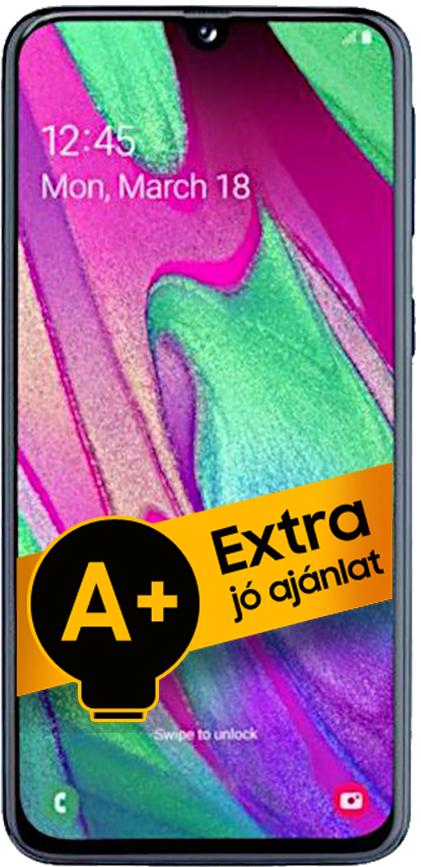 Samsung Galaxy A40 DualSIM 64GB (Kék) 4GB RAM - 1 év jótállás - A+ ajánlat
